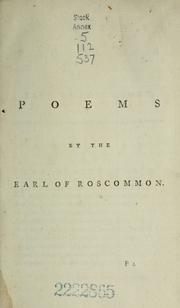 Cover of: [The poems of Rochester, Roscommon, and Yalden]