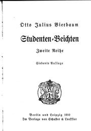 Cover of: Studenten-Beichten. 2. Reihe