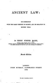 Cover of: Ancient Law | Henry Sumner Maine