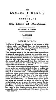 Cover of: THE LONDON JOURNAL OF ARTS, SCIENCES, AND MANUFACTURES, AND REPERTORY OF PATENT INVENTIONS | W. NEWTON