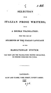 A selection from Italian prose writers by Italian prose writers