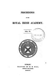 Cover of: Proceedings of the Royal Irish Academy | M H Gill