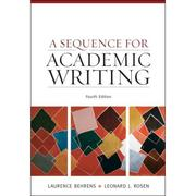 Cover of: A sequence for academic writing