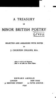 Cover of: A Treasury of Minor British Poetry