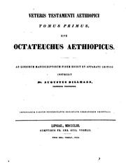 Cover of: Biblia Veteris Testamenti Aethiopica, in quinque tomos distributa