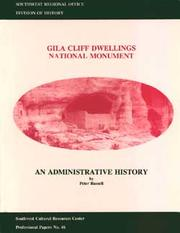 Cover of: Gila Cliff Dwellings National Monument