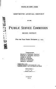 Annual report of the Public Service Commission, Second District by