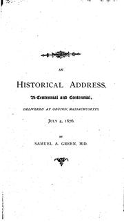 Cover of: An Historical Address, Bi-centennial and Centennial: Delivered July 4, 1876 ..