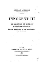 Cover of: Innocent III