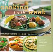 Cover of: Cooking for the week