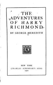 Cover of: The Adventures of Harry Richmond