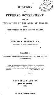 Cover of: History of Federal Government