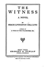 Cover of: The Witness: A Novel
