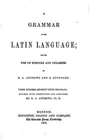 Cover of: Grammar of the Latin Language