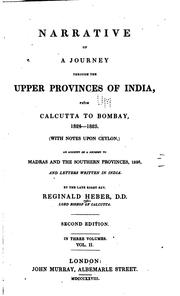 Cover of: Narrative of a Journey Through the Upper Provinces of India, from Calcutta to Bombay, 1824-1825 ..