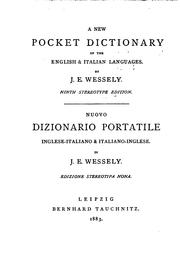 Cover of: A new pocket dictionary of the English & Italian languages by Ignaz Emanuel Wessely