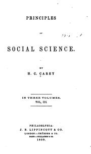 Cover of: Principles of Social Science