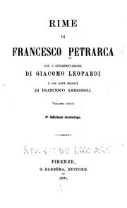Cover of: Rime di Francesco Petrarca