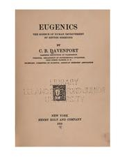 Cover of: Eugenics: The Science of Human Improvement by Better Breeding