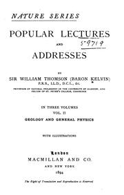 Cover of: Popular Lectures and Addresses