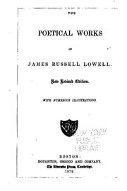 Cover of: The Poetical Works of James Russell Lowell