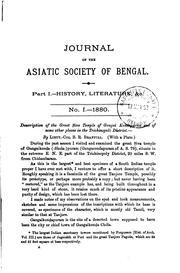 Journal of the Asiatic Society of Bengal by Asiatic Society (Calcutta, India), India ), Asiatic Society of Bengal