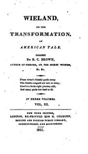 Cover of: Wieland, or, The transformation