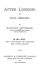 Cover of: After London: Or, Wild England