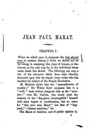 Cover of: Jean Paul Marat: the people's friend