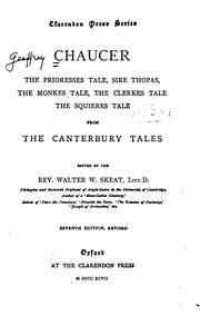 Cover of: The prioresses tale, Sire Thopas, The monkes tale, The clerkes tale, The squieres tale, from The ..