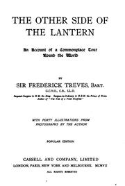 Cover of: The Other Side of the Lantern: An Account of a Commonplace Tour Round the World