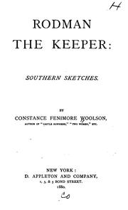 Cover of: Rodman the Keeper: Southern Sketches