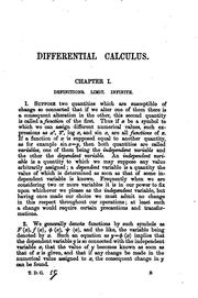 Cover of: A Treatise on the Differential Calculus: With Numerous Examples
