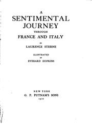 Cover of: A Sentimental Journey Through France and Italy
