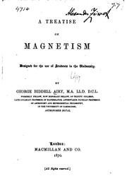 Cover of: A Treatise on Magnetism
