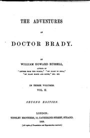 Cover of: The Adventures of Doctor Brady