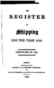 Cover of: Lloyd's Register of Shipping by
