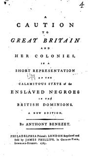 Cover of: A Caution to Great Britain and Her Colonies: In a Short Representation of ..