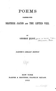 Cover of: Poems: Together with Brother Jacob and The Lifted Veil