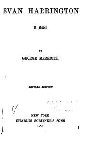 Cover of: The Pocket Edition of the Works of George Meredith