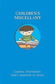 Cover of: Children's miscellany | Matthew Morgan