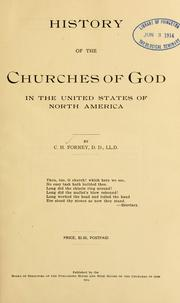Cover of: History of the Churches of God in the United States of North America