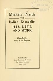 Cover of: Michele Nardi
