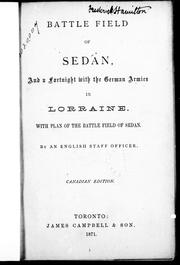 Cover of: Battle field of Sedan, and a fortnight with the German armies in Loraine