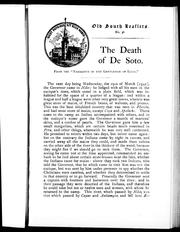 Cover of: The Death of De Soto |