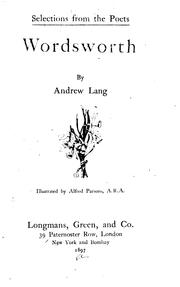 Cover of: Wordsworth by William Wordsworth, Andrew Lang