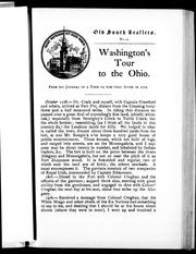 Cover of: Washington's tour to the Ohio