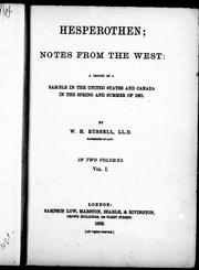 Cover of: Hesperothen, notes from the West