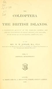 Cover of: The Coléoptera of the British islands