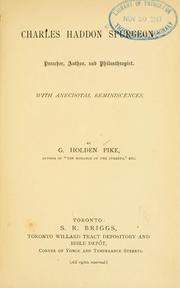 Cover of: Charles Haddon Spurgeon | Pike, G. Holden